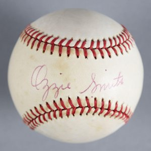 Ozzie Smith St. Louis Cardinals Signed Baseball - COA JSA