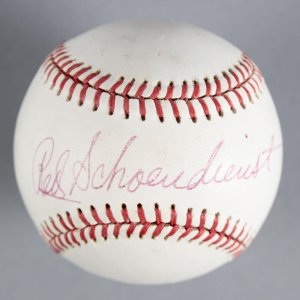 Red Schoendienst St. Louis Cardinals Signed Baseball - COA JSA