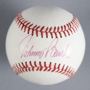 Johnny Bench Cincinnati Reds Signed Baseball - COA JSA