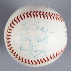 Harry Caray & Joe Kennedy Signed Baseball- COA JSA