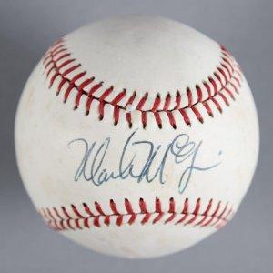 Mark McGwire St. Louis Cardinals Signed Baseball - COA JSA