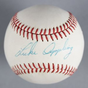 Luke Appling Chicago White Sox Signed Baseball - COA JSA