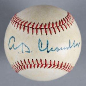 Happy Chandler Commissioner of Baseball Signed (MacPhail) Baseball - COA JSA