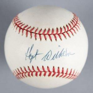Hoyt Wilhelm Signed Baseball Giants - COA JSA