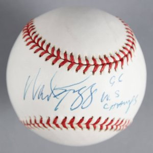 "Wade Boggs New York Yankees Signed, Inscribed ""96 W.S. Champs"" Baseball - COA JSA"