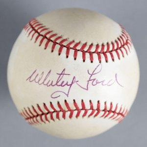 Whitey Ford New York Yankees Signed Baseball - COA JSA