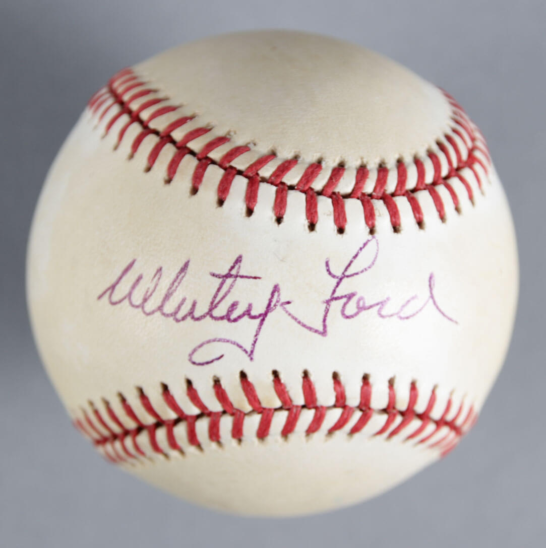 Whitey Ford Signed Baseball Yankees - COA JSA