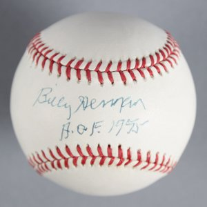 Billy Herman Chicago Cubs Signed, Inscribed H.O.F. 1975 Baseball - COA JSA