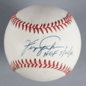 "Ferguson Jenkins Chicago Cubs Signed, Inscribed ""HOF 7/21/91"" Baseball - COA JSA"
