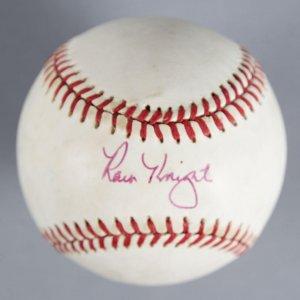 Ray Knight Signed Baseball Mets - COA JSA