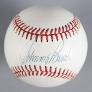 Johnny Bench Cincinnati Reds Signed (Giamatti) Baseball - COA JSA