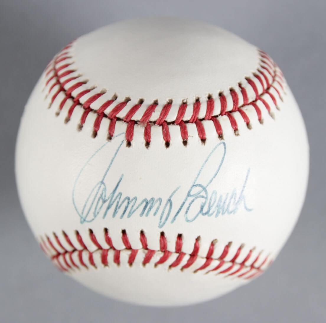 Johhny Bench Signed Baseball Memorabilia Expert