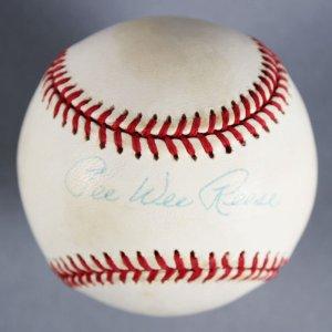 Pee Wee Reese Brooklyn Dodgers Signed Baseball - COA JSA