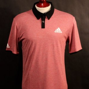 A Sergio Garcia Game-Used Custom Adidas Golf Shirt.  2015 European Masters.
