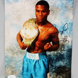 "Vintage Floyd Mayweather Jr. Signed ""W.B.C Champ 99"" Boxing Photo - COA JSA"
