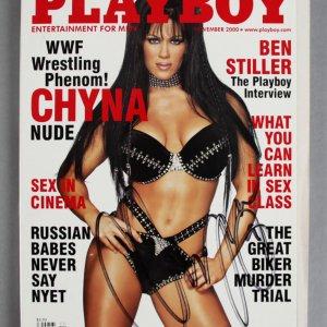 Chyna WWE Wrestling Signed Playboy Magazine - COA JSA