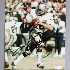 Ken Stabler Signed 8x10 Oakland Raiders Photo - COA JSA