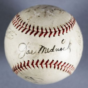 Circa 1934-39 MLB HOFer's & Stars Multi-Signed Baseball - Joe Medwick, Mel Ott, etc. - JSA Full LOA