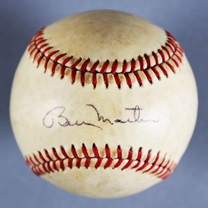 Billy Martin New York Yankees Signed ONL (Feeney) Baseball - JSA Full LOA
