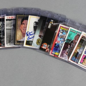 Sport Card Signed Lot (14) - Wally Joyner, Ken Norton, Shawn Kemp etc. - JSA