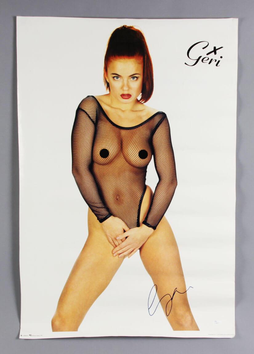 "Geri Halliwell Nude Pics spice girl - geri halliwell signed nude poster 24"" x 34.5""- coa jsa"