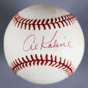 Al Kaline Detroit Tigers Signed Baseball - COA JSA