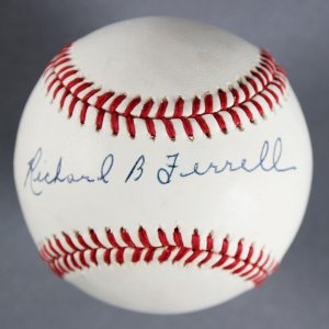 Richard B Ferrell Boston Red Sox Full Signature  Signed (OAL) Baseball - COA JSA