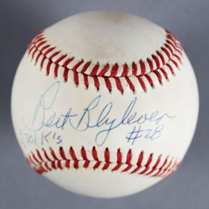Bert Blyleven Minnesota Twins Signed & Inscribed (Brown) Baseball - COA JSA