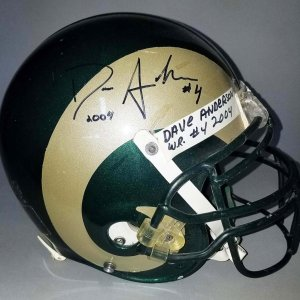 2004 David Anderson Colorado State Rams Game-Worn, Signed Helmet - COA 100% Team