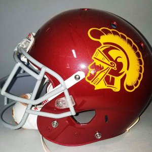 Nelson Agholor USC Trojans Game-Worn Helmet - COA 100% Team