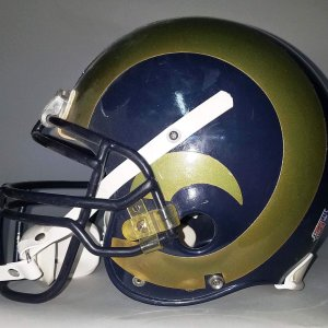 Robert Thomas Game-Worn St. Louis Rams Helmet - COA 100% Team