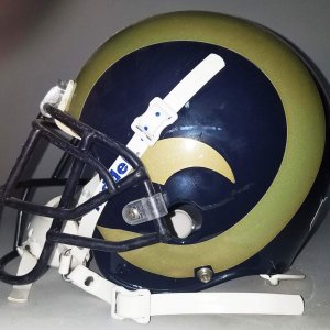 Brandon Gibson Game-Worn St. Louis Rams Helmet - COA 100% Team