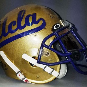2003 Tyler Ebell UCLA Bruins Game-Worn, Signed Helmet - COA 100% Team