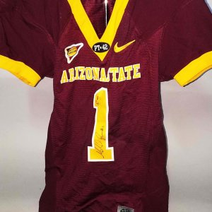 Michael Jones Game-Worn, Signed Arizona State Sun Devils Jersey - COA 100% Team