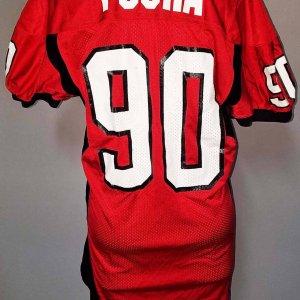 2005 Fiesta Bowl Sione Po'uha Game-Worn Utah Utes Jersey - COA 100% Team