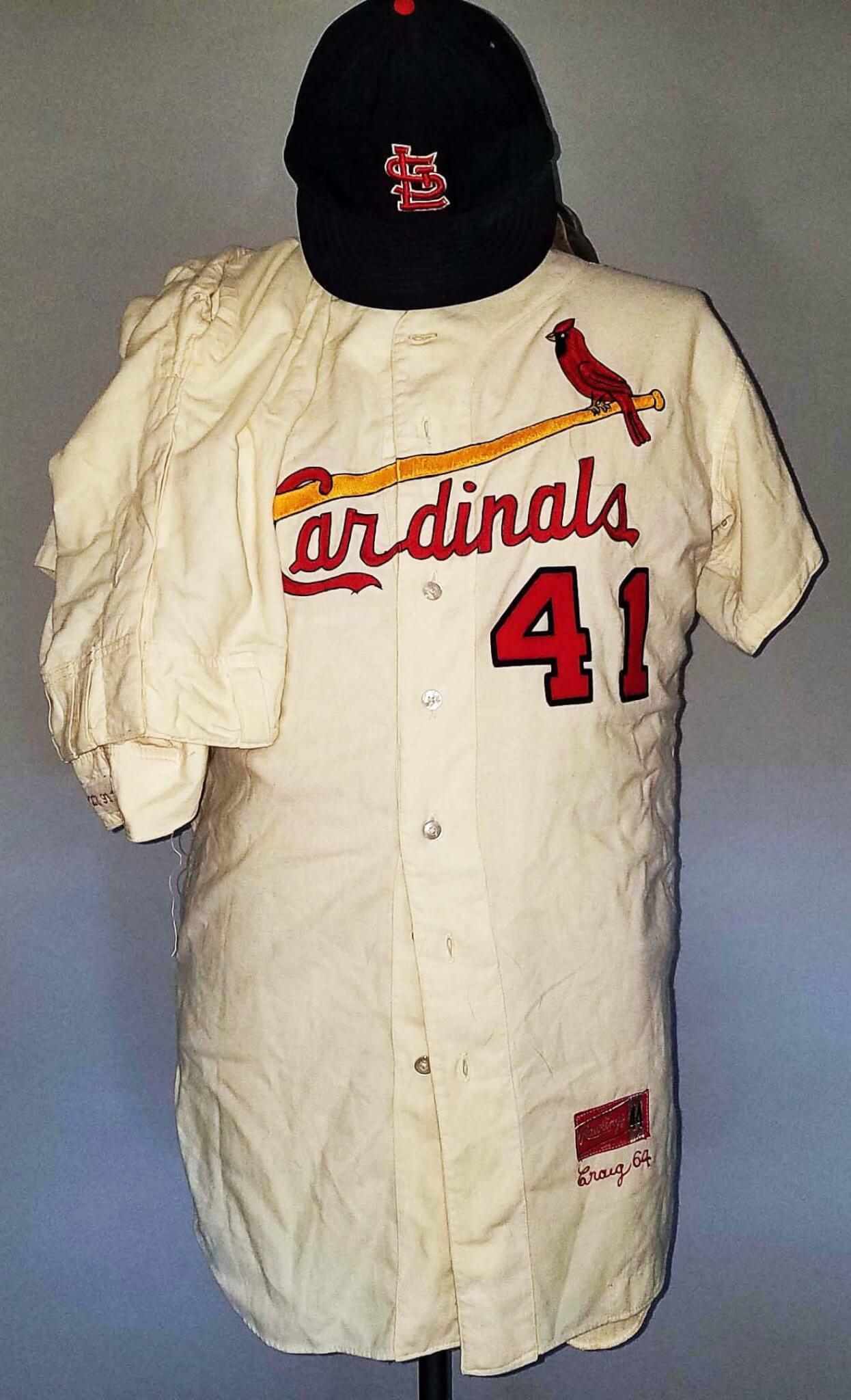 fb92ac990481 1964 Roger Craig Game-Worn St. Louis Cardinals Uniform WORLD SERIES (Jersey