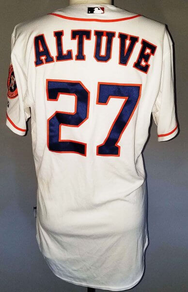 2014 Jose Altuve Houston Astros Game-Worn Jersey 9/18/14 vs. Indians - MLB Hologram