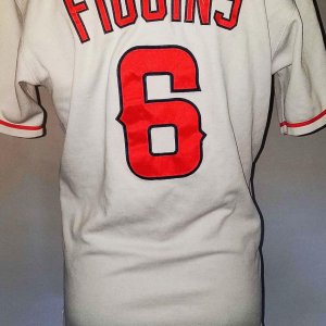 2003 Chone Figgins Game-Worn Anaheim Angels Jersey - COA 100% Team