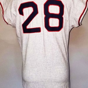 1964 Albie Pearson Game-Worn, Signed Los Angeles Angels Jersey - COA 100% Team