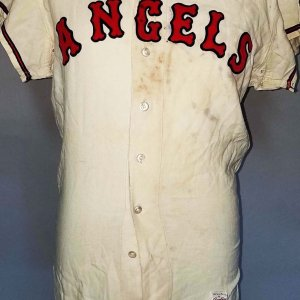 1962 Earl Averill Game-Worn, Signed Los Angeles Angels Jersey - COA 100% Team