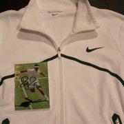A Roger Federer Game-Used Custom Nike Tennis Jacket.  2011 Wimbledon.  (Includes Signed Card).