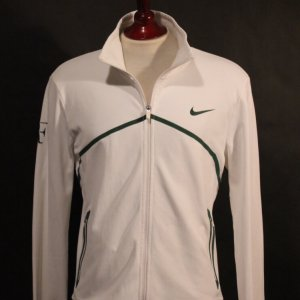 A Roger Federer Game-Used Custom Nike Tennis Jacket.  2011 Wimbledon.  (Includes Signed Card).