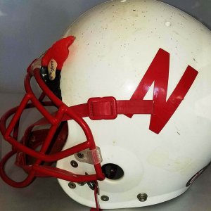 2002 Erwin Swiney Game-Worn, Signed National Championship Nebraska Cornhuskers Helmet - COA 100% Team