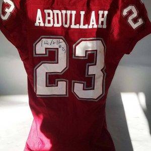 Husain Abdullah Game-Worn, Signed Washington State Cougars Jersey - COA 100% Team