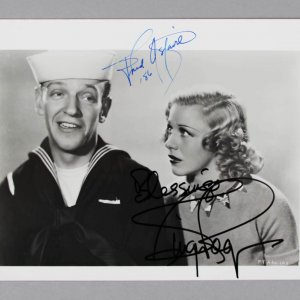 Fred Astaire & Ginger Rogers Signed 8x10 BW Photo - COA JSA
