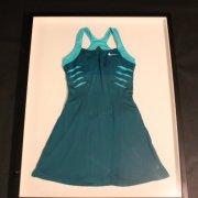 A Maria Sharapova Framed Game-Used & Signed Custom Nike Tennis Dress.  WTA Indian Wells 2012.