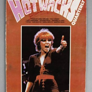 "Pat Benatar Signed  & Inscribed ""Hot Wacks"" Magazine - COA JSA"