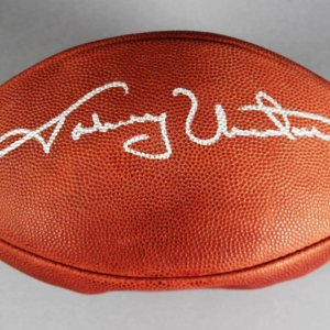 Johnny Unitas Baltimore Colts Signed Football - JSA