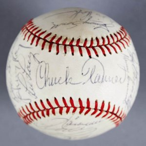 1982 Pittsburgh Pirates Team-Signed (Feeney) Baseball - Willie Stargell, Chuck Tanner, etc. JSA
