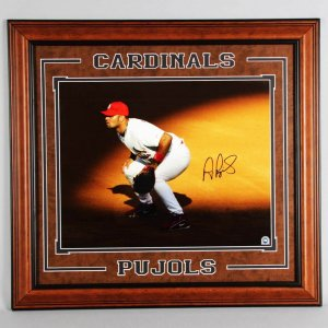 Albert Pujols Signed St. Louis Cardinals 16x20 Photo Display - COA MLB